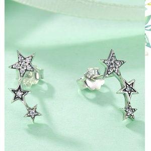 Jewelry - New - 925 Sterling Silver Star Stud Earrings